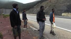 Migrantes en la carretera